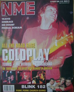 <!--2000-03-25-->NME magazine - Coldplay cover (25 March 2000)
