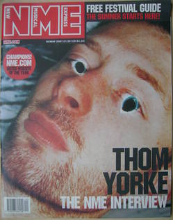 NME magazine - Thom Yorke cover (19 May 2001)