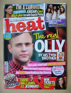 <!--2009-11-28-->Heat magazine - Olly Murs cover (28 November-4 December 20