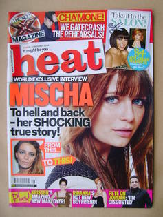 <!--2009-12-05-->Heat magazine - Mischa Barton cover (5-11 December 2009 -