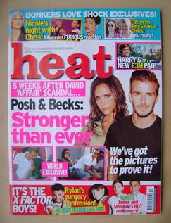 <!--2012-10-06-->Heat magazine - David and Victoria Beckham cover (6-12 Oct