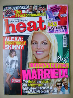 <!--2009-12-12-->Heat magazine - Britney Spears cover (12-18 December 2009