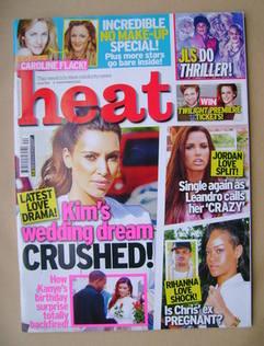 <!--2012-11-03-->Heat magazine - Kim Kardashian cover (3-9 November 2012 -