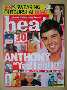 <!--2005-08-20-->Heat magazine - Anthony Hutton cover (20-26 August 2005 -