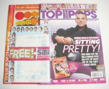 Top Of The Pops magazine - Robbie Williams cover (January 2000)