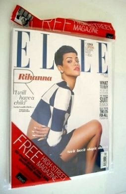 <!--2013-04-->British Elle magazine - April 2013 - Rihanna cover (Cover 2 o