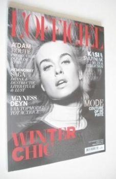<!--2012-12-->L'Officiel Netherlands magazine (December 2012/January 2013 - Kasia Smutniak cover)