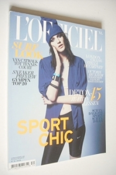 L'Officiel Netherlands magazine (June/July 2012 - Laura Kampman cover)