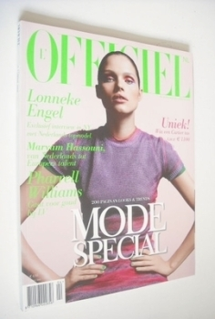 L'Officiel Netherlands magazine (April 2008 - Lonneke Engel cover)