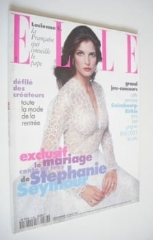 French Elle magazine - 24 July 1995 - Stephanie Seymour cover