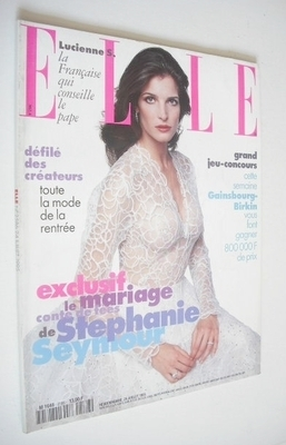 <!--1995-07-24-->French Elle magazine - 24 July 1995 - Stephanie Seymour co