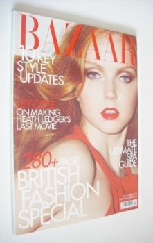 Harper's Bazaar magazine - October 2009 - Lily Cole cover
