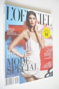 L'Officiel Netherlands magazine (March/April 2009 - Eugenia Volodina cover)