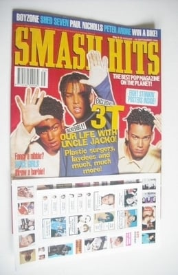 <!--1996-08-28-->Smash Hits magazine - 3T cover (28 August - 10 September 1