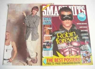 <!--1995-07-19-->Smash Hits magazine - Chris O'Donnell cover (19 July - 1 A