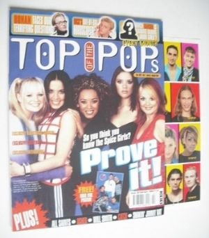 <!--1998-02-->Top Of The Pops magazine - The Spice Girls cover (February 19
