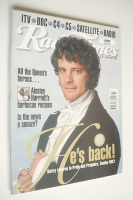 <!--1997-07-05-->Radio Times magazine - Colin Firth cover (5-11 July 1997)