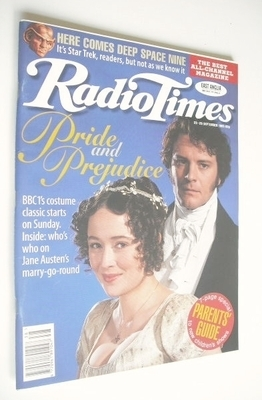 <!--1995-09-23-->Radio Times magazine - Colin Firth and Jennifer Ehle cover