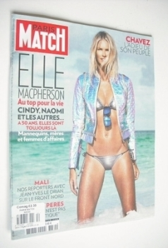 Paris Match magazine - 14-20 March 2013 - Elle Macpherson cover
