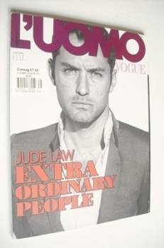 <!--2012-11-->L'Uomo Vogue magazine - November 2012 - Jude Law cover