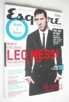 Esquire magazine - Leo Messi cover (March 2013)