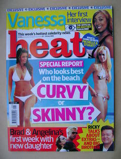<!--2005-07-23-->Heat magazine - Curvy or Skinny? cover (23-29 July 2005 -