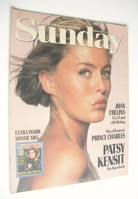 <!--1990-09-23-->Sunday magazine - 23 September 1990 - Patsy Kensit cover