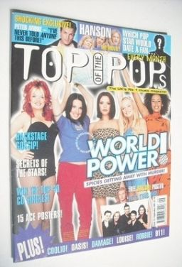 <!--1997-09-->Top Of The Pops magazine - The Spice Girls cover (September 1