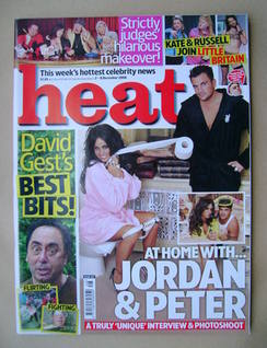 <!--2006-12-02-->Heat magazine - Jordan and Peter Andre cover (2-8 December