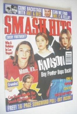 <!--1997-06-04-->Smash Hits magazine - Hanson cover (4-17 June 1997)