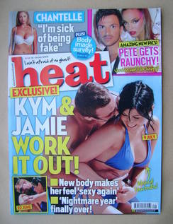 <!--2009-07-18-->Heat magazine - Kym Marsh and Jamie Lomas cover (18-24 Jul