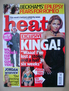 <!--2005-10-15-->Heat magazine - Kinga Karolczak cover (15-21 October 2005