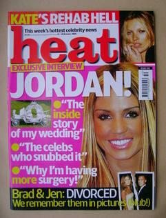 <!--2005-10-08-->Heat magazine - Jordan cover (8-14 October 2005 - Issue 34