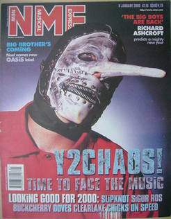 NME magazine - Slipknot cover (8 January 2000)