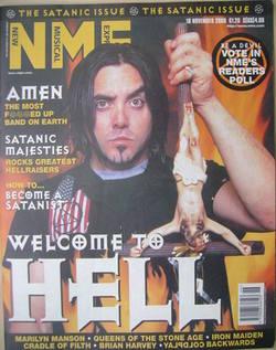 NME magazine - Casey Chaos cover (18 November 2000)