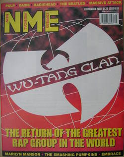 <!--2000-11-11-->NME magazine - Wu-Tang Clan cover (11 November 2000)