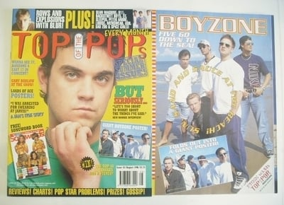 <!--1996-08-->Top Of The Pops magazine - Robbie Williams cover (August 1996