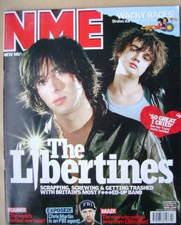 <!--2002-10-19-->NME magazine - The Libertines cover (19 October 2002)