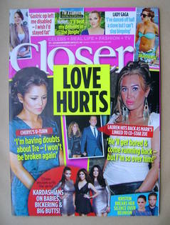 <!--2012-11-17-->Closer magazine - Cheryl Cole / Lauren Goodger cover (17-2
