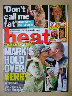 <!--2009-03-28-->Heat magazine - Kerry Katona and Mark Croft cover (28 Marc