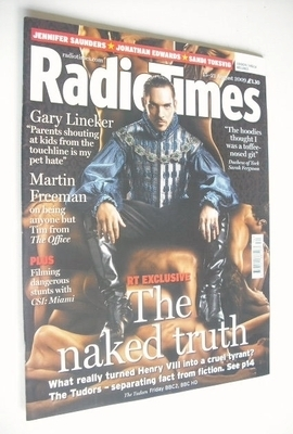 <!--2009-08-15-->Radio Times magazine - Jonathan Rhys Meyers cover (15-21 A