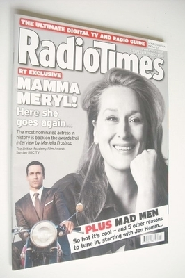 <!--2009-02-07-->Radio Times magazine - Meryl Streep cover (7-13 February 2