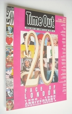 <!--1988-10-19-->Time Out magazine - Face Of London cover (19-26 October 19