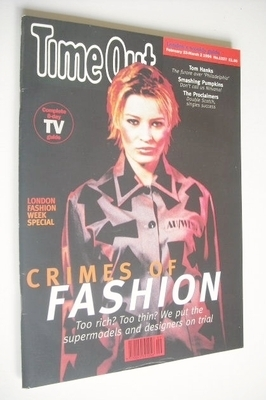 <!--1994-02-23-->Time Out magazine - Crimes Of Fashion cover (23 February -