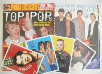Top Of The Pops magazine - Ronan Keating and Louise cover (March 1996)