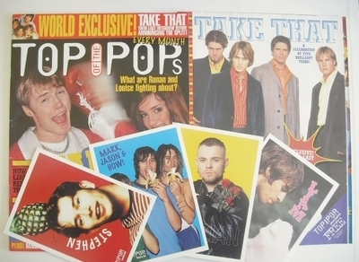 <!--1996-03-->Top Of The Pops magazine - Ronan Keating and Louise cover (Ma