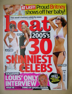 <!--2005-12-03-->Heat magazine - Skinniest Celebs cover (3-9 December 2005