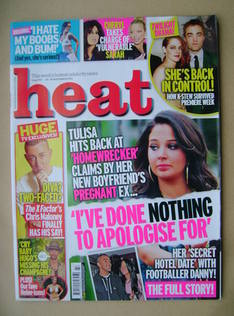 <!--2012-11-24-->Heat magazine - Tulisa cover (24-30 November 2012 - Issue