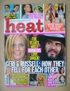 <!--2012-09-08-->Heat magazine - Geri Halliwell / Russell Brand cover (8-14