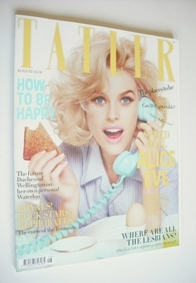 <!--2012-08-->Tatler magazine - August 2012 - Alice Eve cover